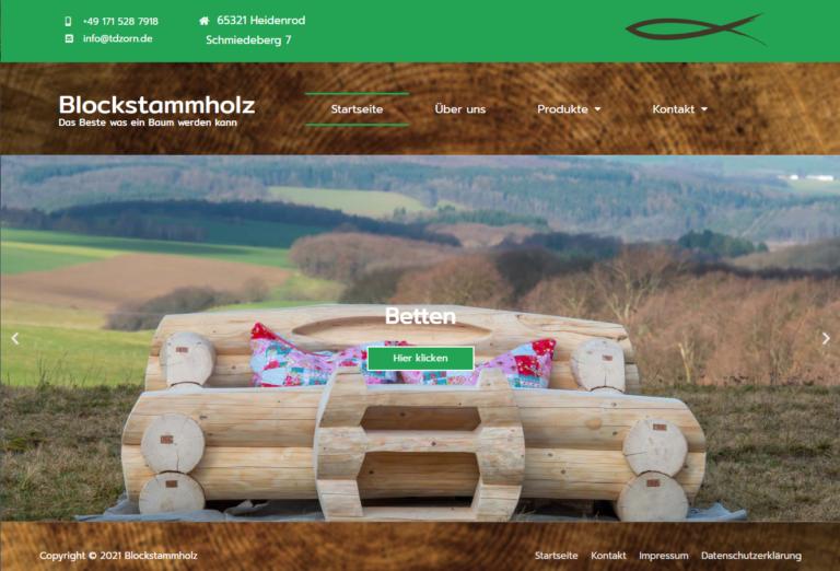 Homepage Blockstammholz.de